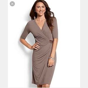 Tommy Bahama ruched wrap t-shirt dress. Brown